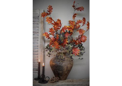 LifestyleByLeonie Zijden tak Oak roestbruin eikenblad 112 cm