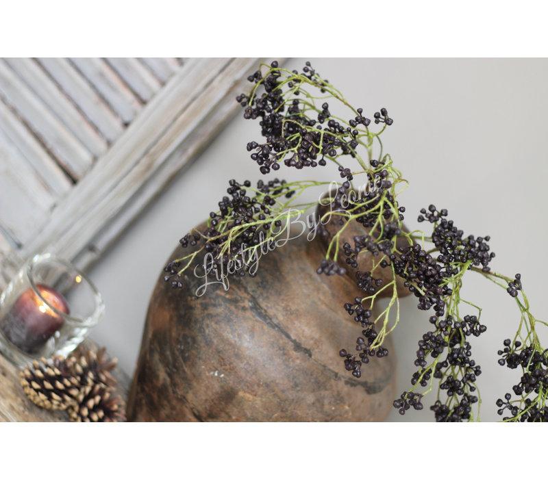 Zijden tak Black berries 65 cm