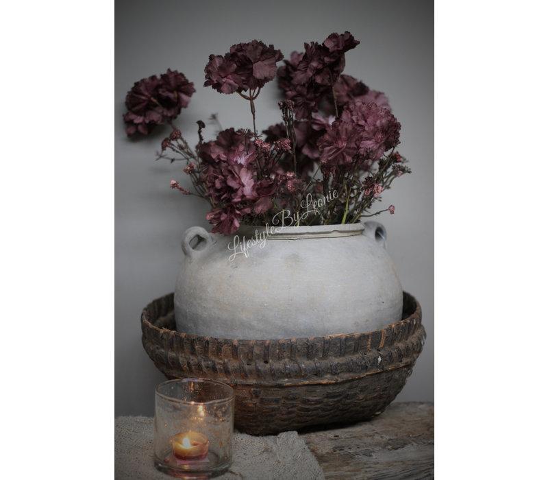 Namaak tak Field flower bordeaux