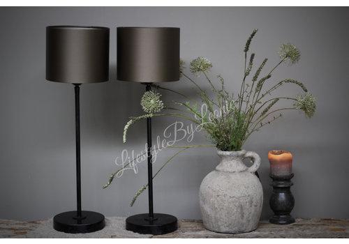 LifestyleByLeonie Zwart metalen lampvoet Old chiq 40 cm