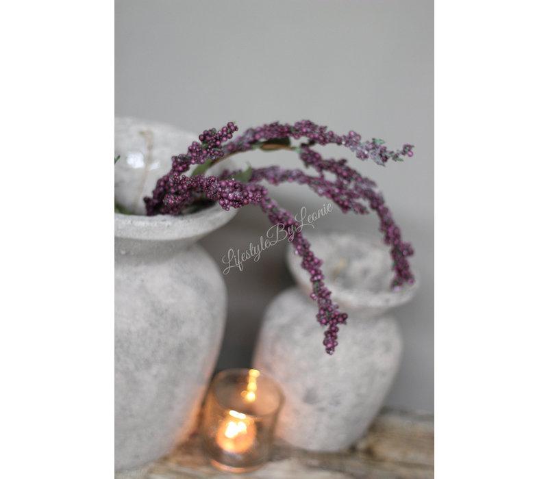 Bessentak paars/zwart 85 cm