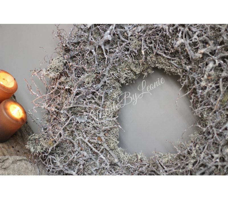 Grote mos / bonsai krans 65 cm