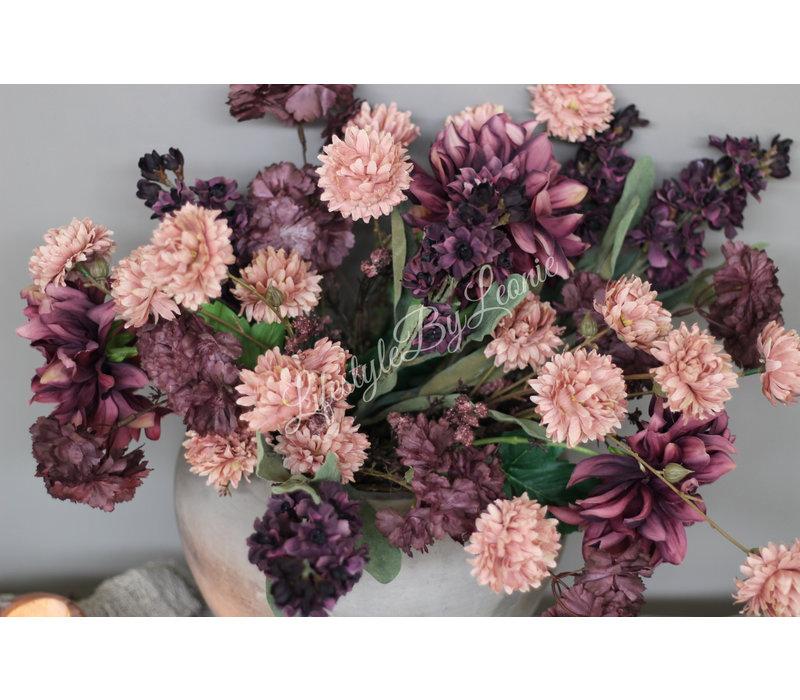 Zijden Dahlia mauve 62 cm