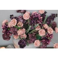 Zijden Chrysant zacht roze 60 cm