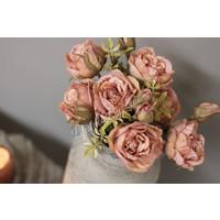 Zijden Roos zacht roze 38 cm