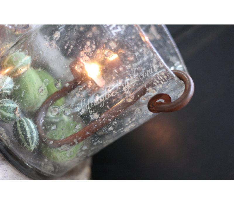 S-kandelaar roest waxinelichthouder 18 cm