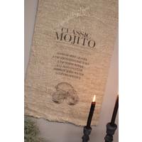 Shabby linnen wanddoek Mojito