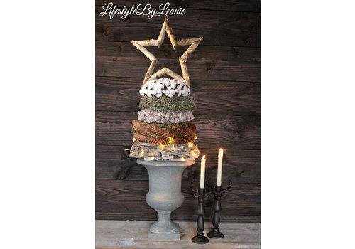 LifestyleByLeonie Sobere kerstster Berkenhout 40 cm