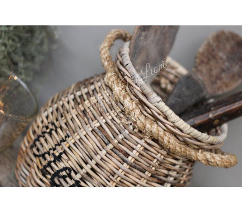 Rattan bestekhouder met touw Utensils