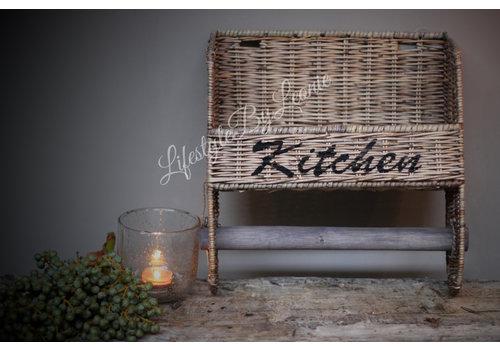 LifestyleByLeonie Rattan keukenrolhouder Kitchen