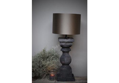 LifestyleByLeonie Baluster lampvoet Antraciet - maat L