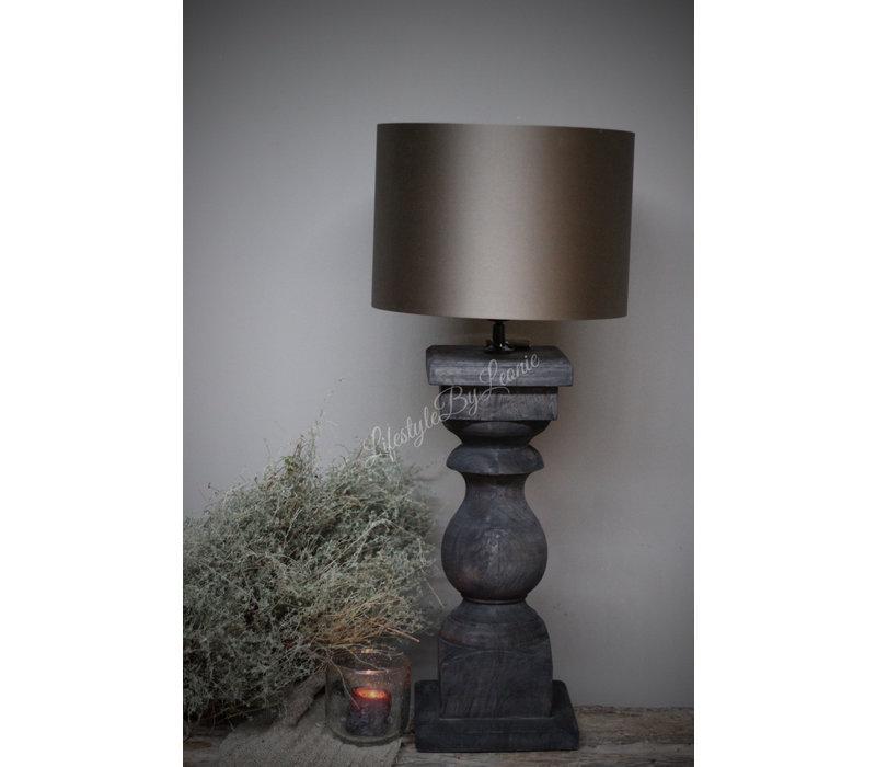 Baluster lampvoet Antraciet 56 cm