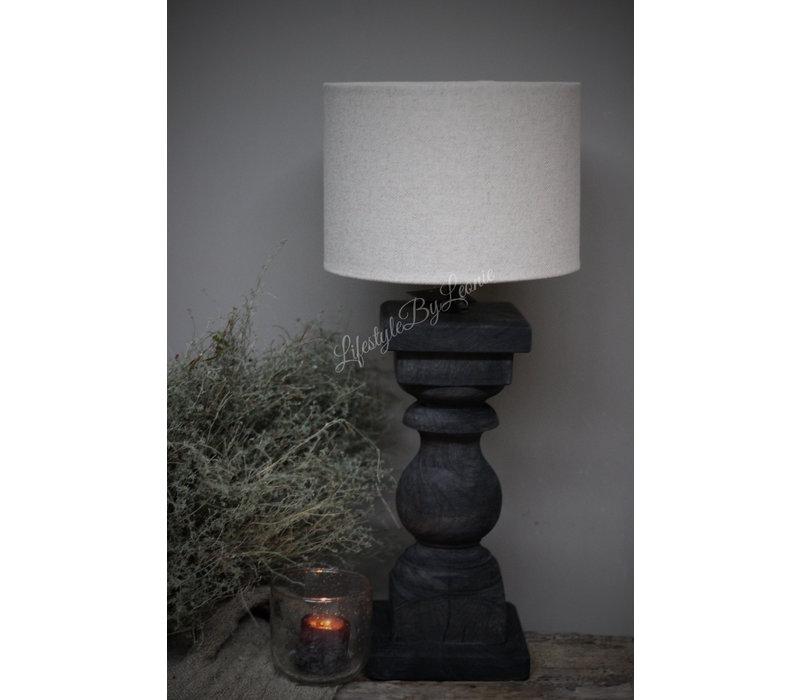 Baluster lampvoet Antraciet - maat M