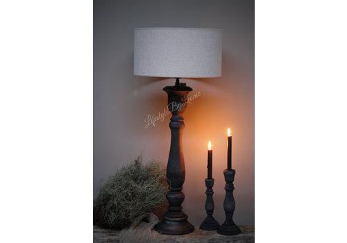 LifestyleByLeonie Hoge smalle lampvoet Antraciet 70 cm