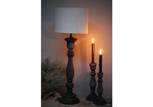 LifestyleByLeonie Hoge smalle lampvoet Antraciet 60 cm