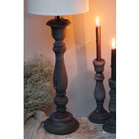 Hoge smalle lampvoet Antraciet 60 cm