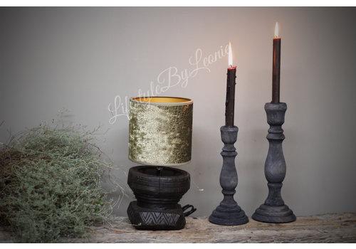 LifestyleByLeonie Oude houten vijzel lampvoet