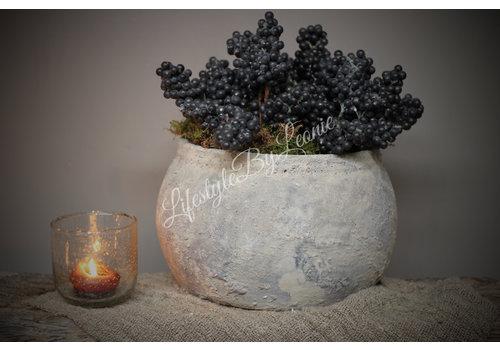 Brynxz Ronde kruik / pot Dusty 29 cm