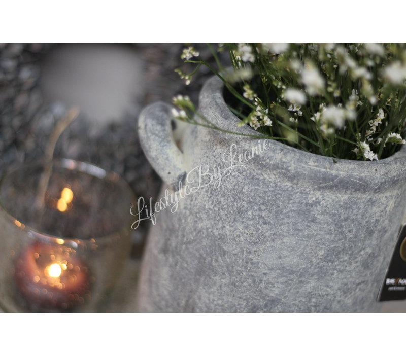 Brynxz Majestic grijze hoge kruik met oren Deluxe 22 cm