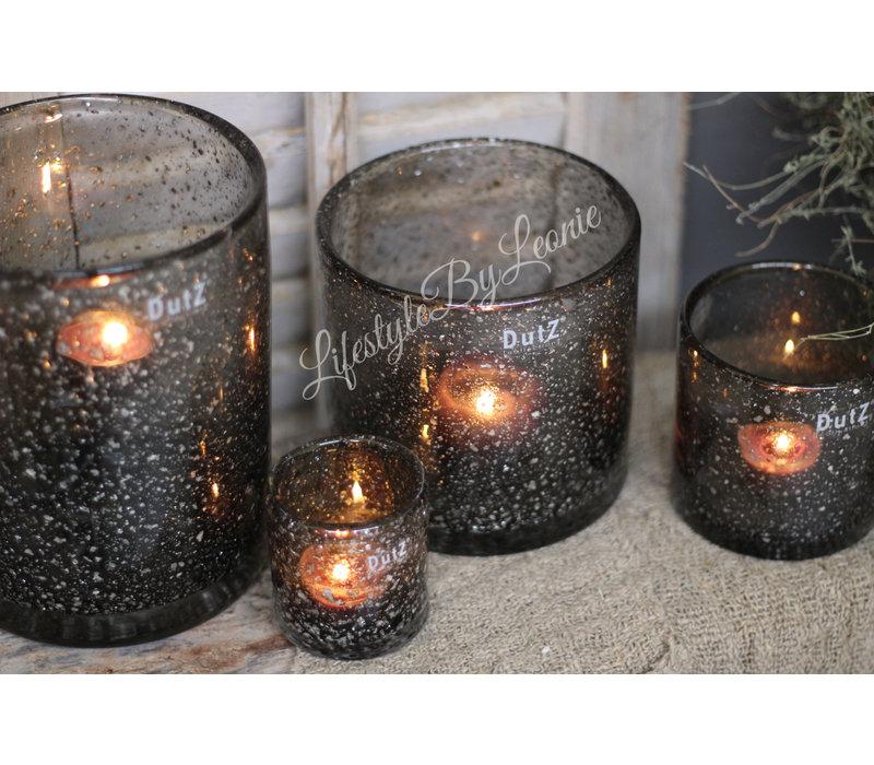DUTZ cilinder windlicht grey sparkle 10 cm