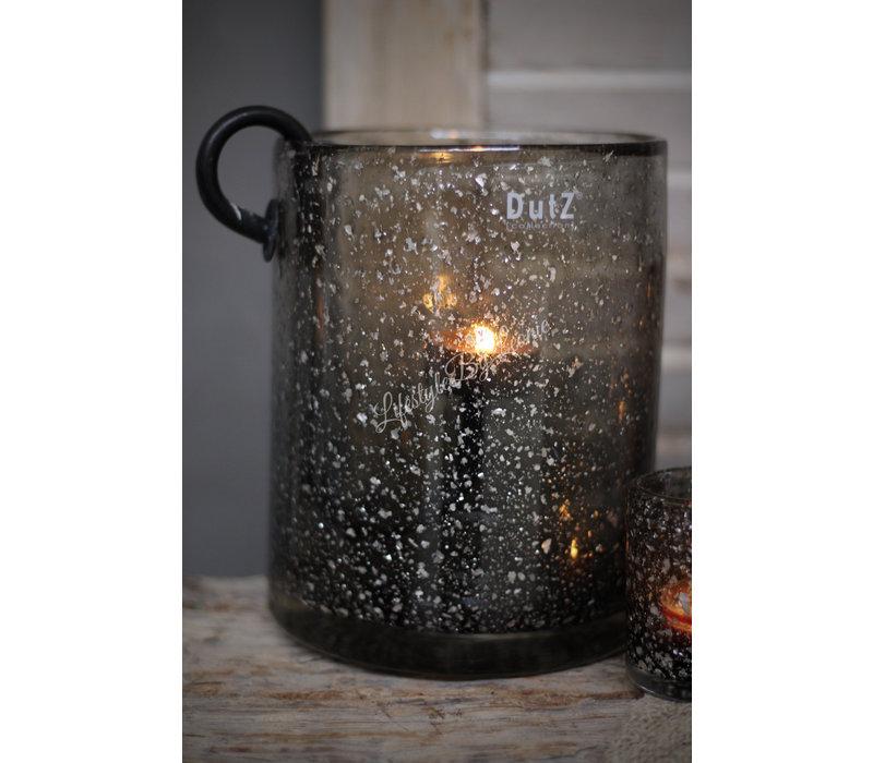 DUTZ cilinder windlicht grey sparkle 19 cm