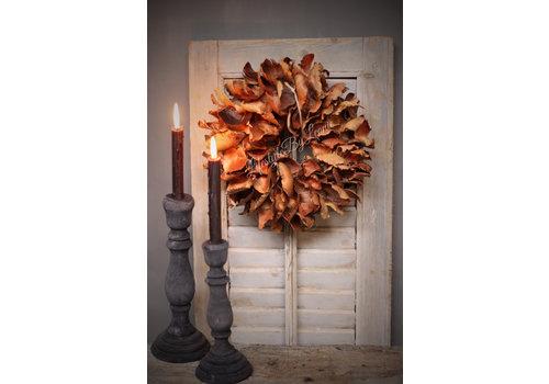 LifestyleByLeonie Krans Palm Petal bruin 30 cm