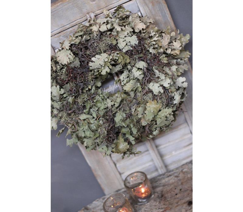 Krans eikenblad / bonsai 35 cm