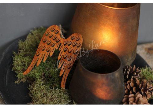 LifestyleByLeonie Roestige vleugels Wings 14 cm