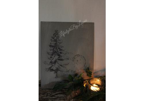 LifestyleByLeonie Sober kalk verf paneel Tree 30 cm