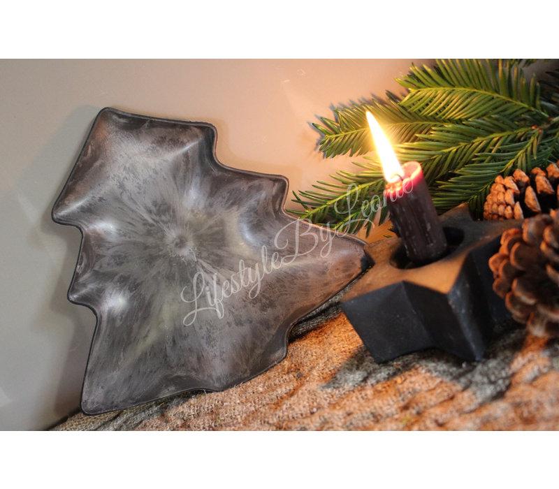 Dienblad Tree metaal look 23 cm