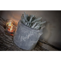Namaak Pine bush groen / glitter 25 cm