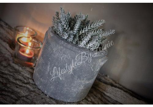 LifestyleByLeonie Namaak Pine bush groen / glitter 25 cm