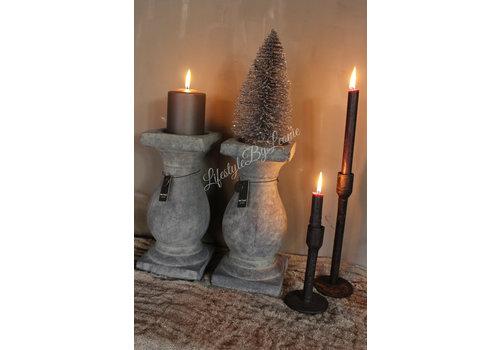 Glitter kerstboom Silver 20 cm