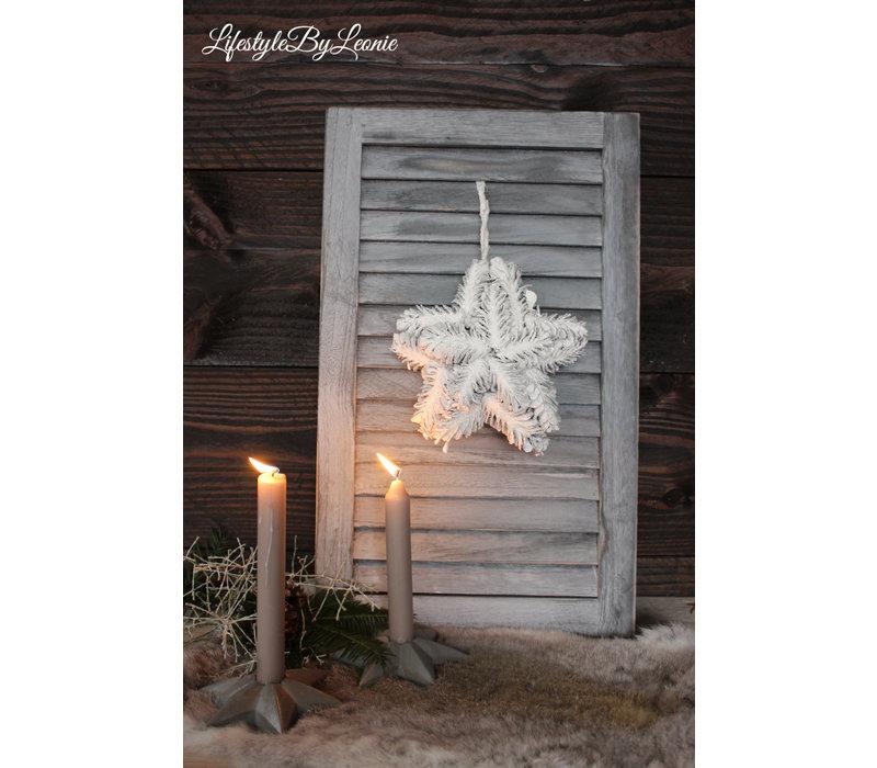 Pinecone hanger Ster sneeuw 17 cm