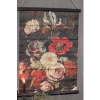 Wanddoek Flowers 88 cm