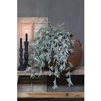 Zijden hang dennentak met dennenappels 122 cm