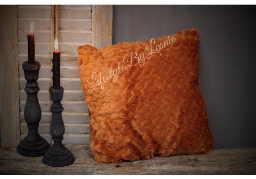 LifestyleByLeonie Nep bontkussen Camel 45 cm