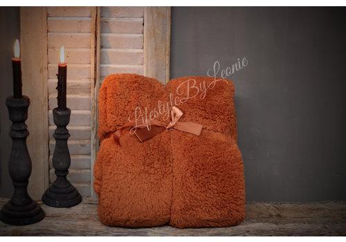 LifestyleByLeonie Teddy plaid Camel 200 cm
