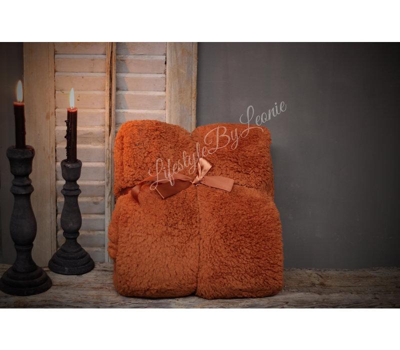 Teddy plaid Camel 200 cm