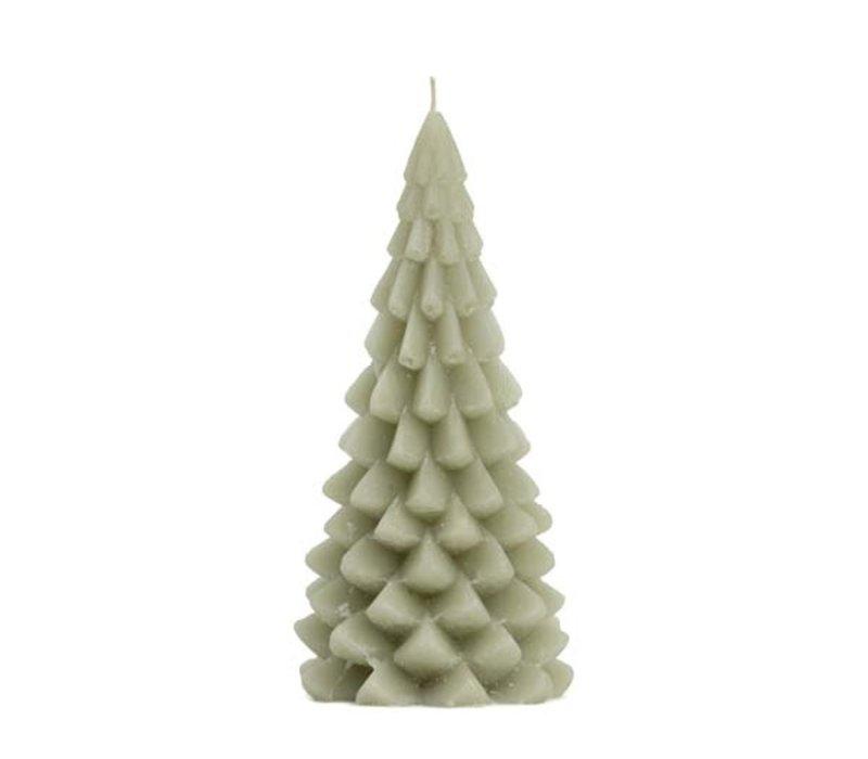 Kerstboom kaars pastel green 20 cm