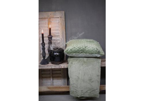 LifestyleByLeonie Fleece plaid Oil green 200 cm