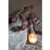 LifestyleByLeonie Zijden tak met plataanballen aubergine