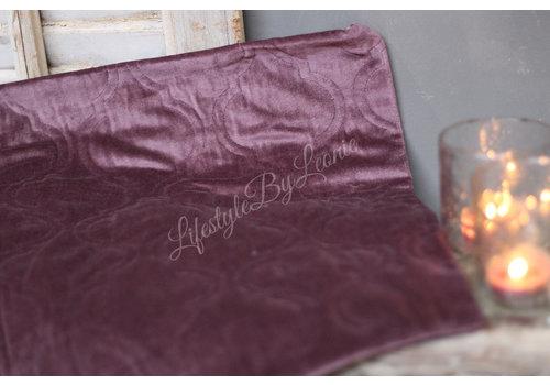 LifestyleByLeonie Kussenhoes Moroccan velvet mauve 45 cm