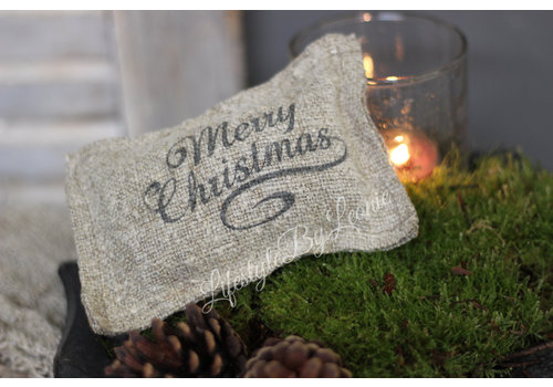 LifestyleByLeonie Shabby geurkussentje Merry Christmas