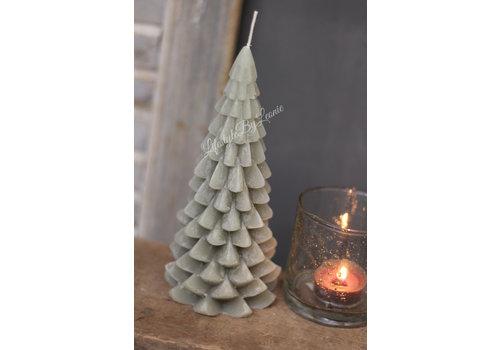 LifestyleByLeonie Kerstboom kaars pastel green 20 cm