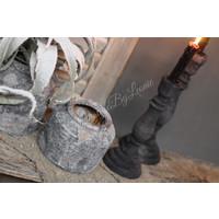 Kruik grey wash 'Raw' 14cm