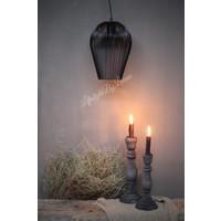 Zwart metalen hanglamp 'Abby'|26cm