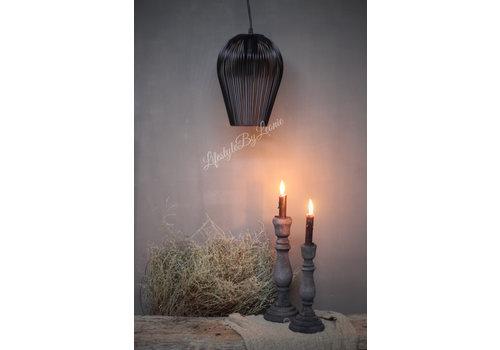 Zwart metalen hanglamp Abby 26 cm