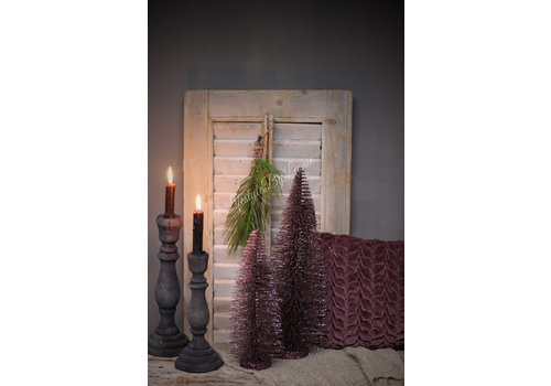 LifestyleByLeonie Glitter kerstboom Mauve 40 cm