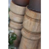 Houten baluster kandelaar 'Vintage'